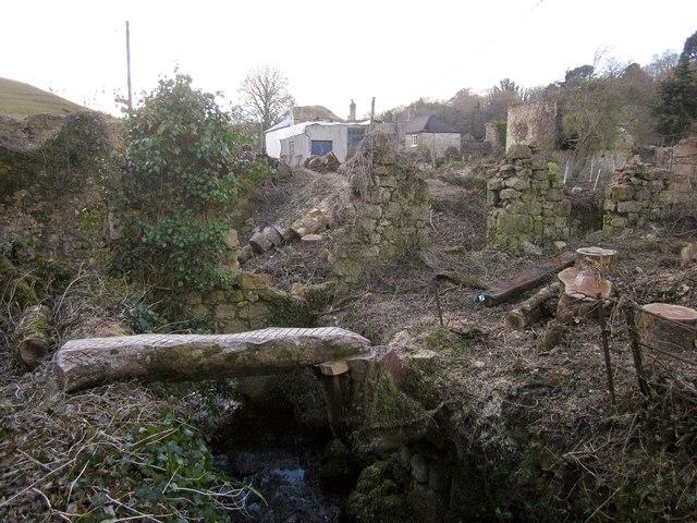 Former mill near Chagford Bridge