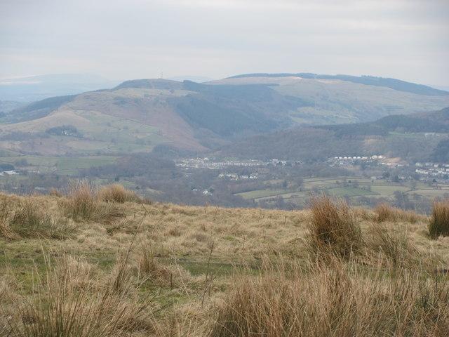 View north west from Mynydd Eglwysilan
