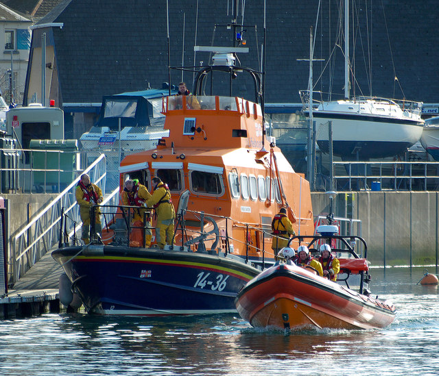Two lifeboats at Bangor