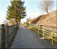 SD7807 : Path to Radcliffe Metrolink Station by Gerald England