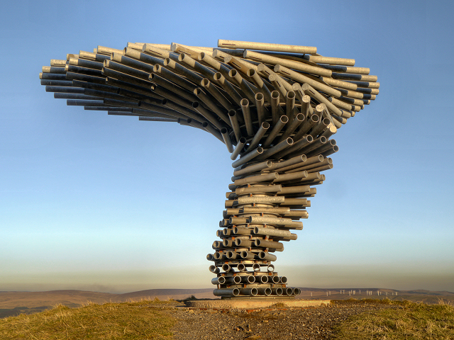 The Singing Ringing Tree above Burnley