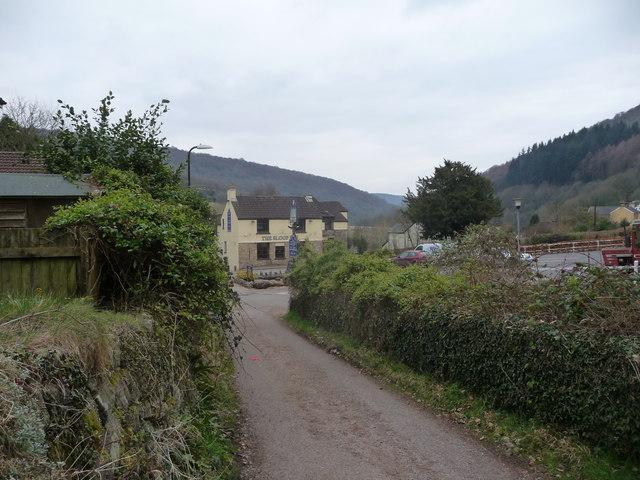 View to the Sloop Inn, Llandogo