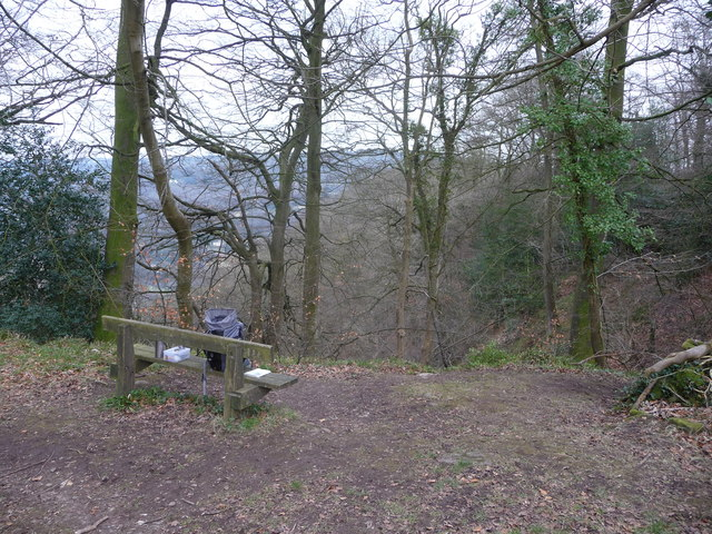 Bench above Cleddon Shoots in the Wye Valley