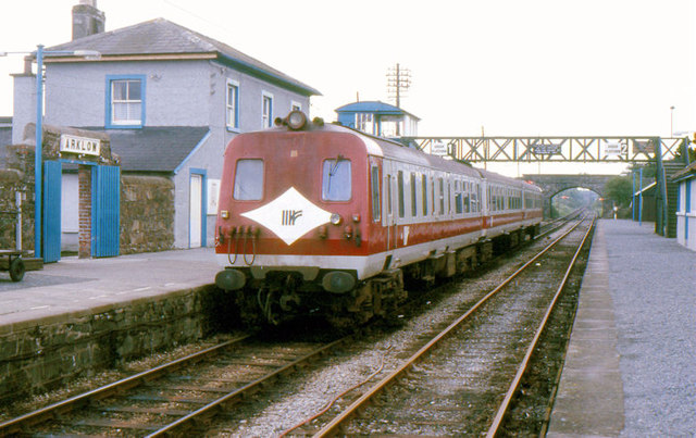NIR railcars at Arklow