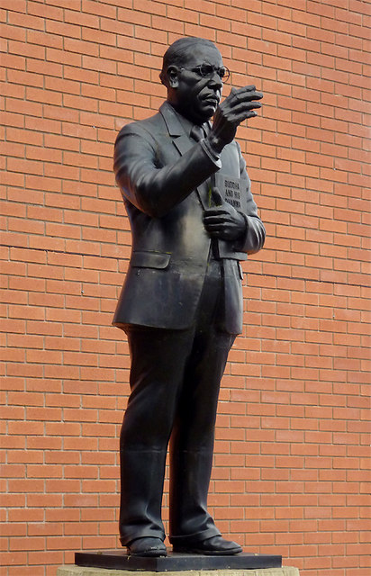 Statue of Dr Ambedkar at the Buddha Vihara, Wolverhampton