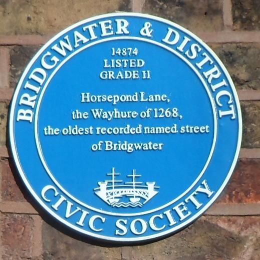 Photo of Horsepond Lane blue plaque