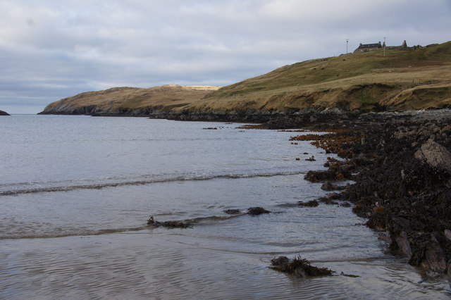 East shore of Sand Voe, North Roe