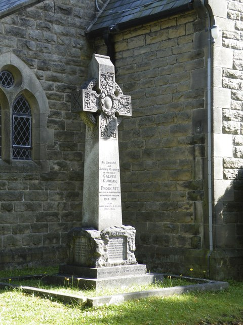 War Memorial, All Saints Church, Curbar Hill, Curbar