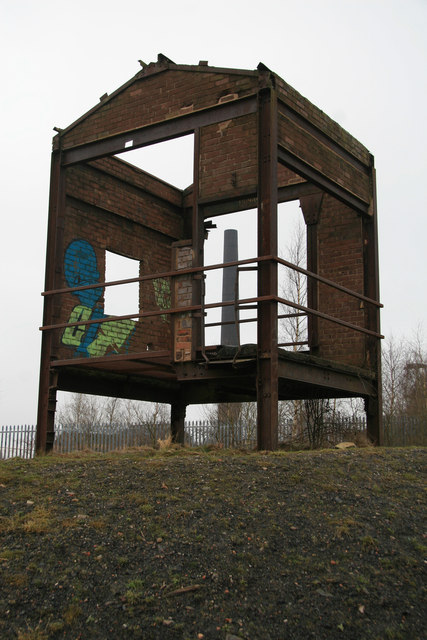 Chatterley Whitfield Colliery remains