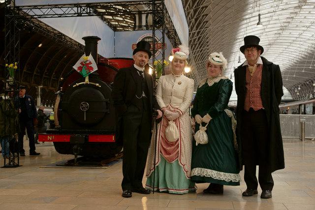 Victorians at Paddington Station