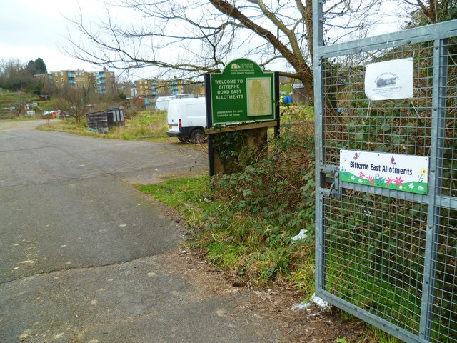 Entrance to Bitterne East Allotments