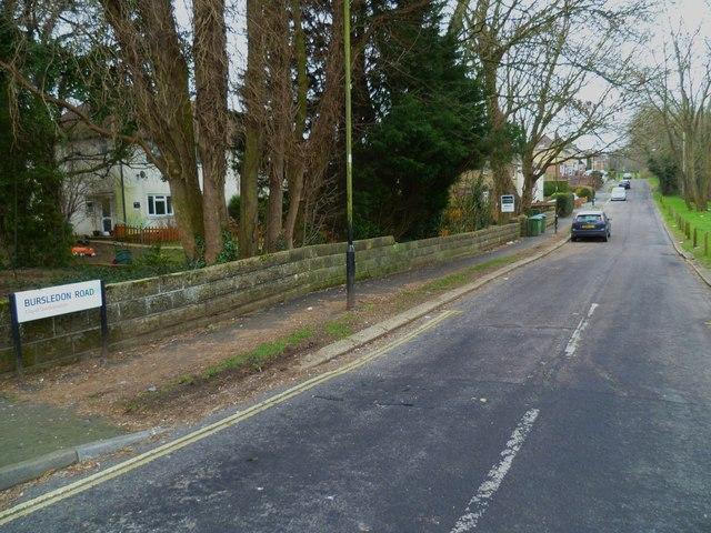 Looking east along Bursledon Road