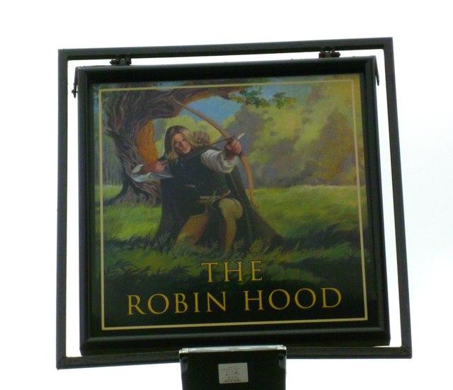 """Sign at """"The Robin Hood"""" PH"""