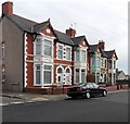 ST1268 : Mount Pleasant houses, Cadoxton, Barry by Jaggery