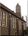 TQ2870 : St Barnabas church, Mitcham: bell tower by Stephen Craven
