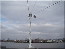 TQ3979 : View of one of the pylons from the Emirates Air Line by Robert Lamb