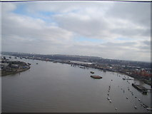 TQ3980 : View of the Thames from the Emirates Air Line #4 by Robert Lamb