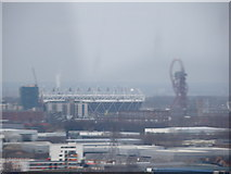TQ3980 : View of the Olympic Stadium and Arcelo-Mittal Orbit sculpture from the Emirates Air Line by Robert Lamb