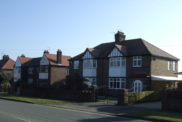Houses on Stockport Road, Thelwall