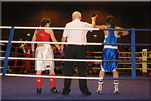 NT2774 : Women Boxers - A Geograph first!! by Des Colhoun