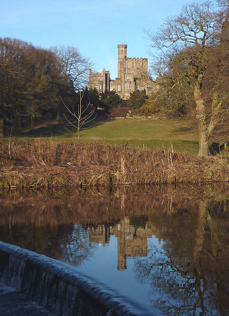 Hornby Castle reflected in the River Wenning