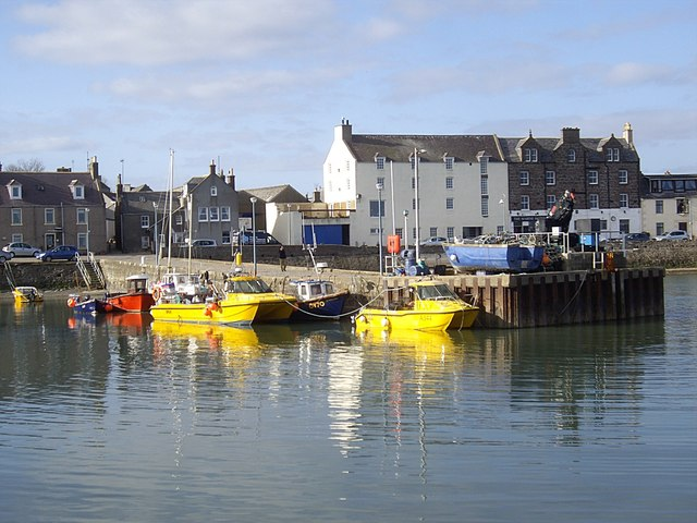 Fishing vessels in the inner basin at Stonehaven