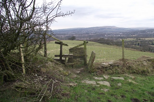 Stile on farmland path
