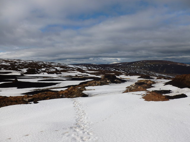 Looking towards Corlach Hill