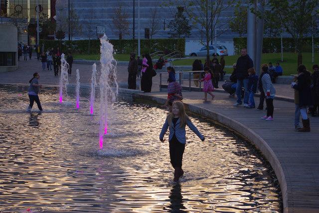 The Mirror Pool, City Park, Bradford