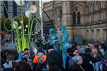 SE1632 : Stilt walkers in the Garden Of Light, City Park, Bradford by Phil Champion
