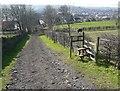 SE1924 : Driveway and footpath stile by Humphrey Bolton
