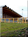 ST1268 : Front of the west stand at Jenner Park Stadium, Barry by Jaggery
