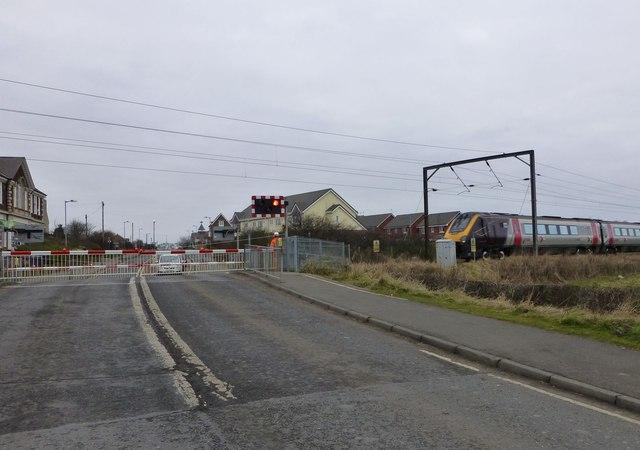 Level crossing at Widdrington Station