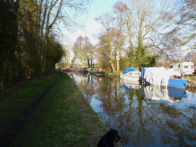 Staffs & Worcester Canal - moored narrowboats