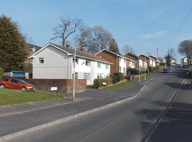 Houses on the north side of Westfield Drive, Malpas, Newport
