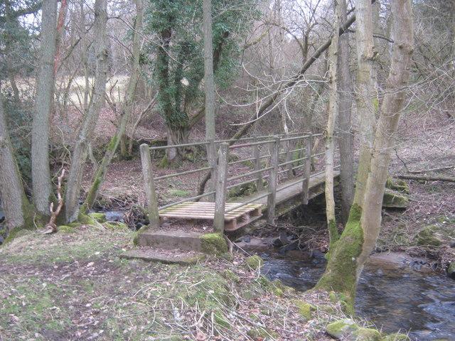 Footbridge over Harthope Beck