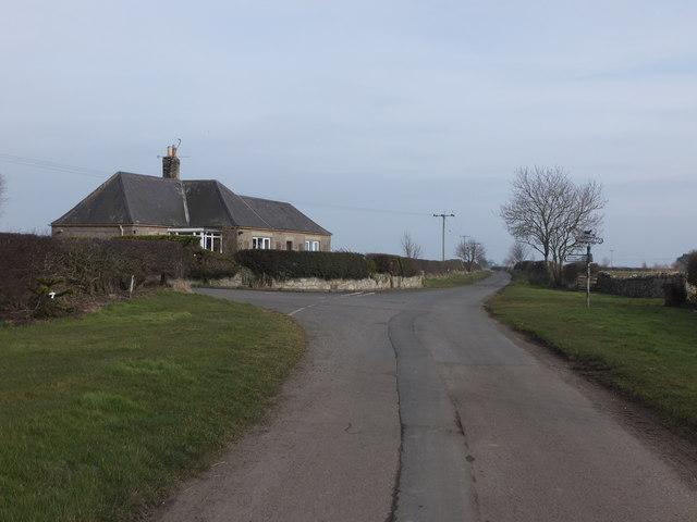 Road junction east of Felkington village