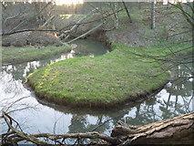 NT6378 : East Lothian Geomorphology : A Meander In The Hedderwick Burn by Richard West
