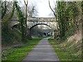 SK3926 : Trent Lane bridges at Kings Newton by Richard Green