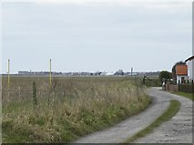 SD3727 : Lytham Quays viewed from Bank Lane, Warton by Terry Robinson
