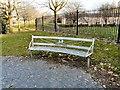 SJ8698 : Bench at Riverside Gardens by Gerald England