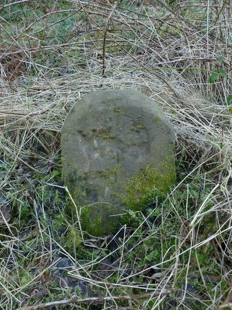 Dumbarton Rock: War Department boundary stone no. 4