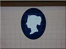TQ2879 : Queen Victoria, Victoria Underground Station by Robin Sones