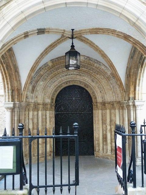 Romanesque doorway, Temple Church