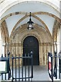 TQ3181 : Romanesque doorway, Temple Church by Rob Farrow