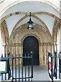 TQ3181 : Romanesque doorway, Temple Church by Rob Farrow