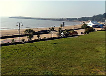 ST1166 : Grass, sand and water, Barry Island by Jaggery