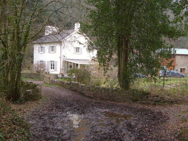 Bridge and cottage, Ideford Combe