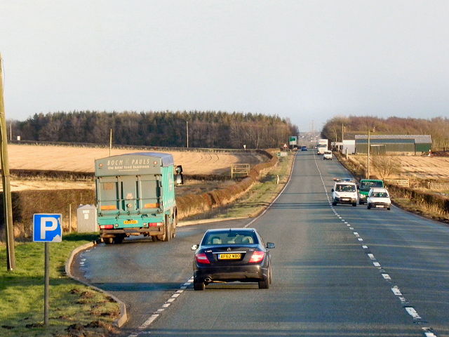Layby, eastbound A75 at Charlesfield