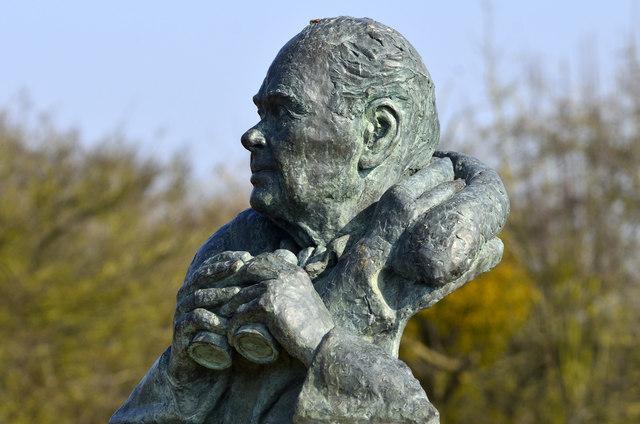 Bust of Sir Peter Scott - Wildfowl and Wetlands Trust, Slimbridge